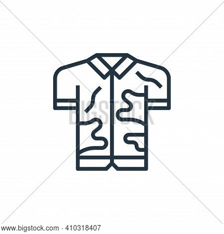 dirty shirt icon isolated on white background from laundry collection. dirty shirt icon thin line ou