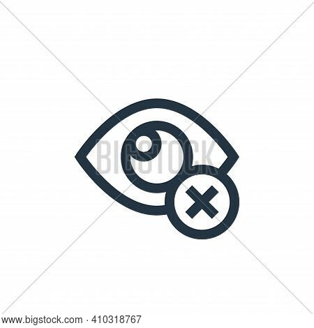 closed eyes icon isolated on white background from ramadan collection. closed eyes icon thin line ou