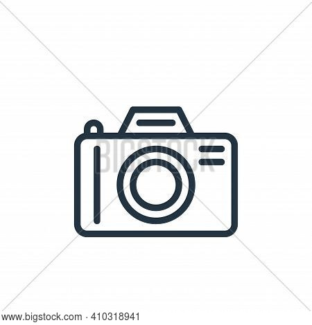 camera icon isolated on white background from hobbies collection. camera icon thin line outline line