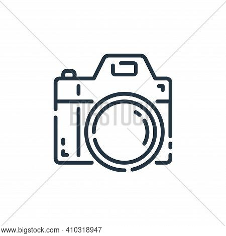 camera icon isolated on white background from user interface collection. camera icon thin line outli