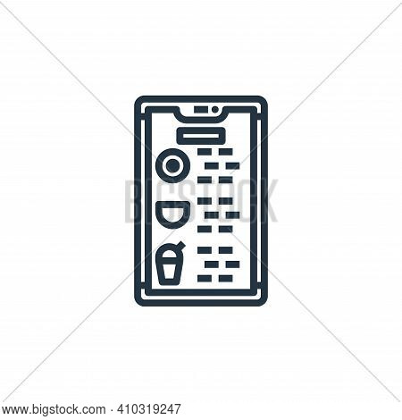 application icon isolated on white background from food delivery collection. application icon thin l