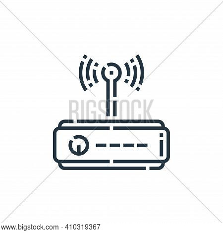 wifi router icon isolated on white background from videoblogger collection. wifi router icon thin li