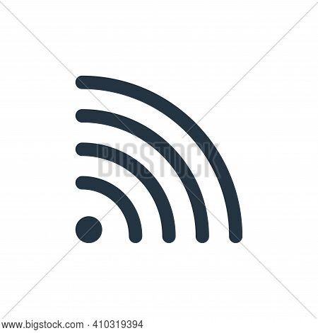 wifi icon isolated on white background from user interface collection. wifi icon thin line outline l