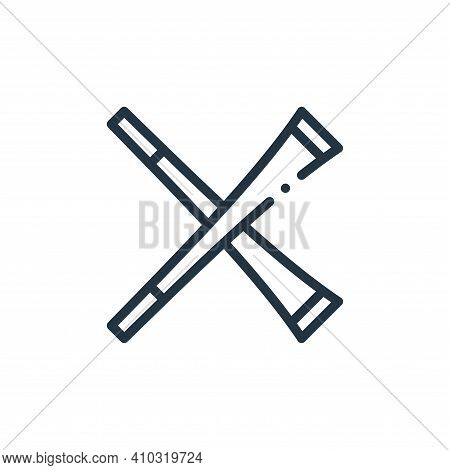 trumpet icon isolated on white background from europe collection. trumpet icon thin line outline lin