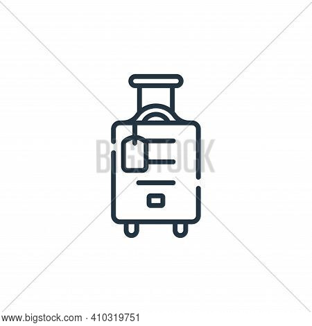 travel icon isolated on white background from free time collection. travel icon thin line outline li