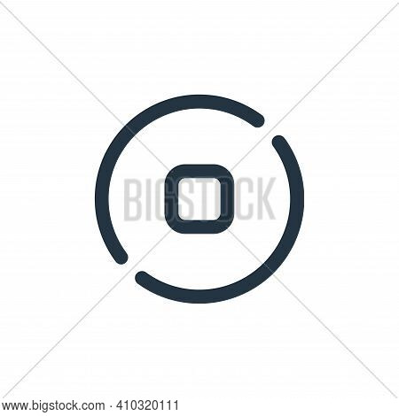 stop icon isolated on white background from sound collection. stop icon thin line outline linear sto