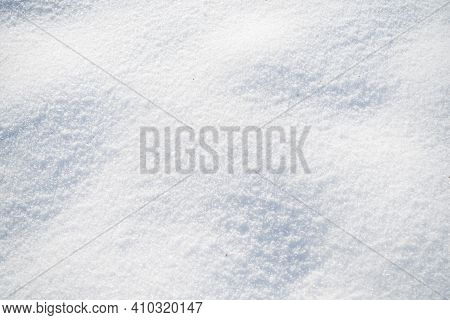 Smooth Clean Surface Of Fresh Fallen Snow