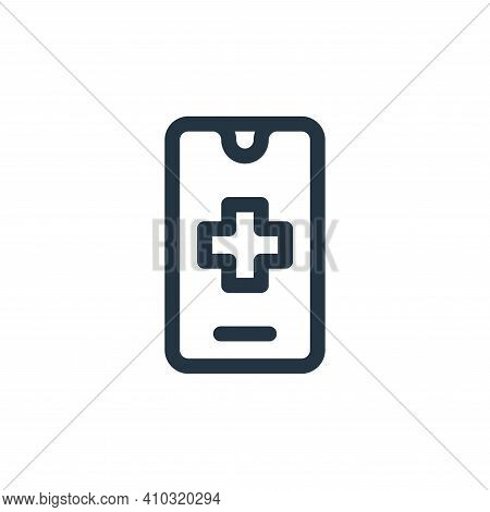 smartphone icon isolated on white background from emergencies collection. smartphone icon thin line