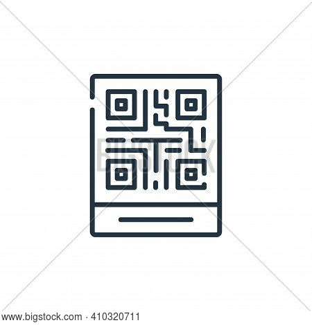 qr code icon isolated on white background from delivery collection. qr code icon thin line outline l