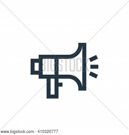 promotion icon isolated on white background from job resume collection. promotion icon thin line out