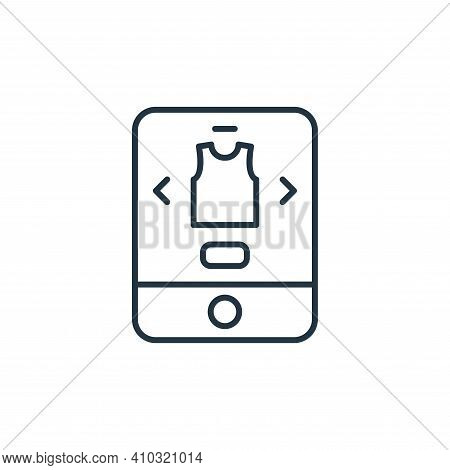 online store icon isolated on white background from ecommerce collection. online store icon thin lin