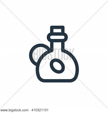 olive oil icon isolated on white background from gastronomy collection. olive oil icon thin line out