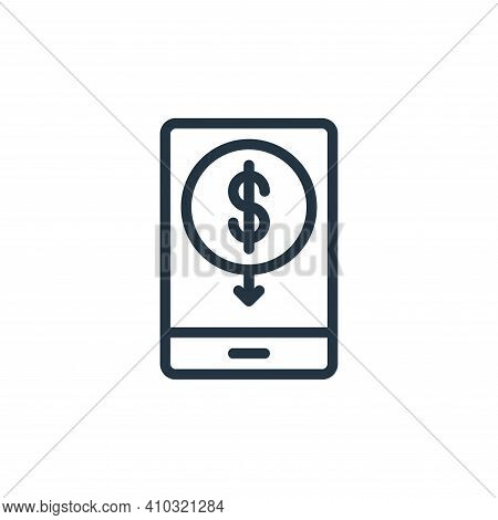 mobile banking icon isolated on white background from business collection. mobile banking icon thin