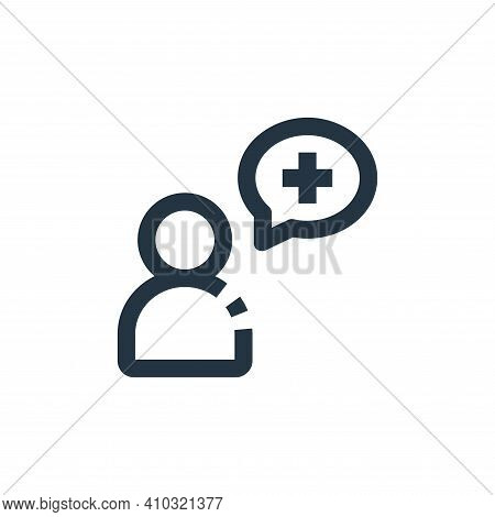 medical support icon isolated on white background from medical collection. medical support icon thin