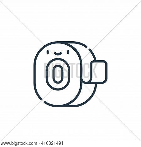 measuring tape icon isolated on white background from electrician tools and elements collection. mea