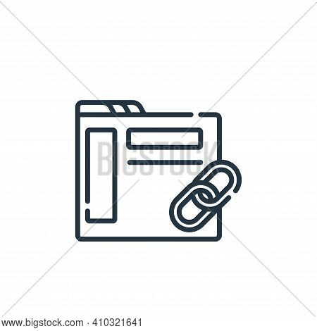 link icon isolated on white background from web development collection. link icon thin line outline