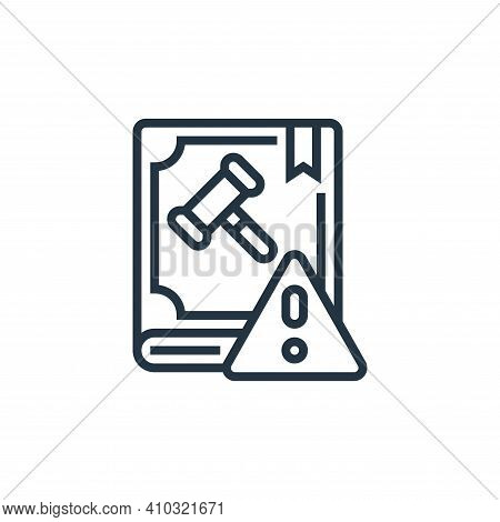 law icon isolated on white background from business risks collection. law icon thin line outline lin