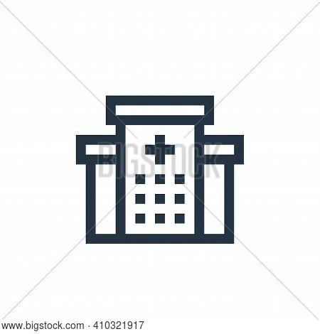 hospital icon isolated on white background from insurance collection. hospital icon thin line outlin