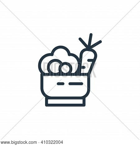 healthy food icon isolated on white background from health and protection collection. healthy food i