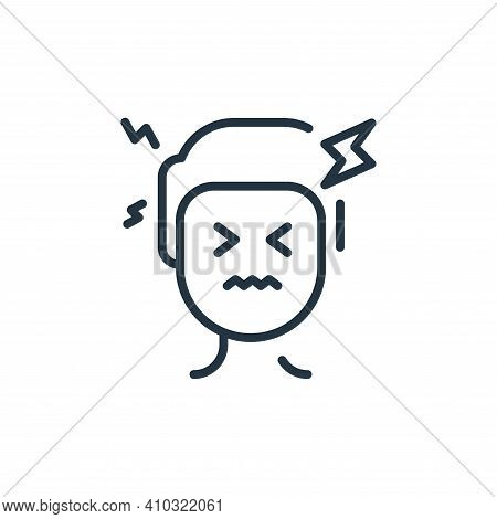 headache icon isolated on white background from virus transmission collection. headache icon thin li