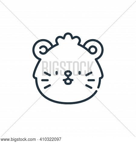 hamster icon isolated on white background from pets collection. hamster icon thin line outline linea