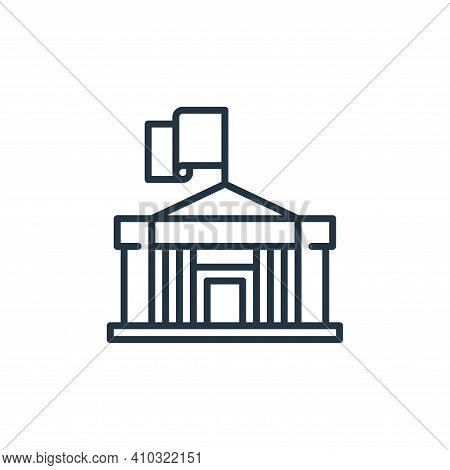 government icon isolated on white background from management collection. government icon thin line o