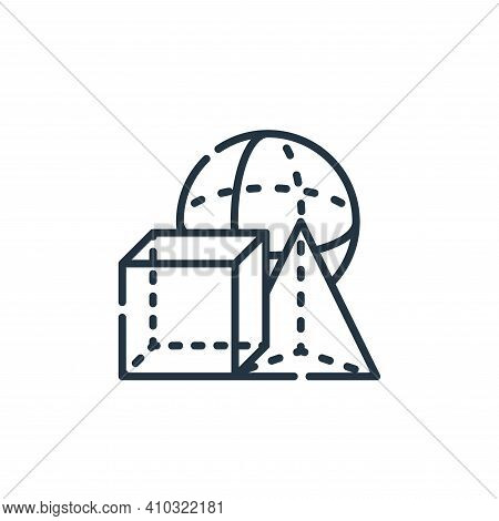 geometry icon isolated on white background from academy collection. geometry icon thin line outline