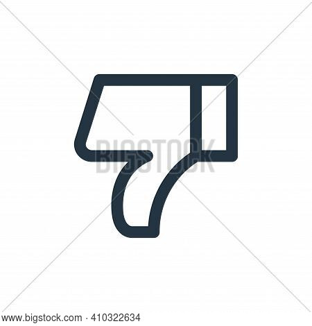 dislike icon isolated on white background from user interface collection. dislike icon thin line out