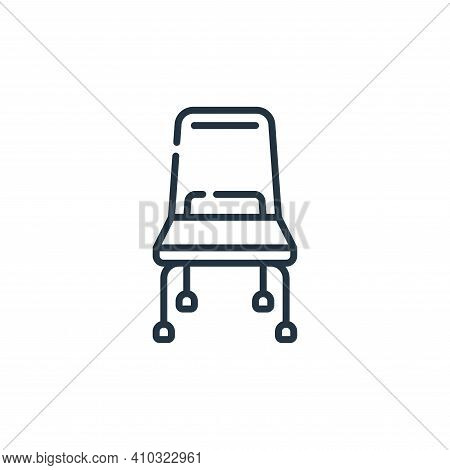 chair icon isolated on white background from plastic products collection. chair icon thin line outli