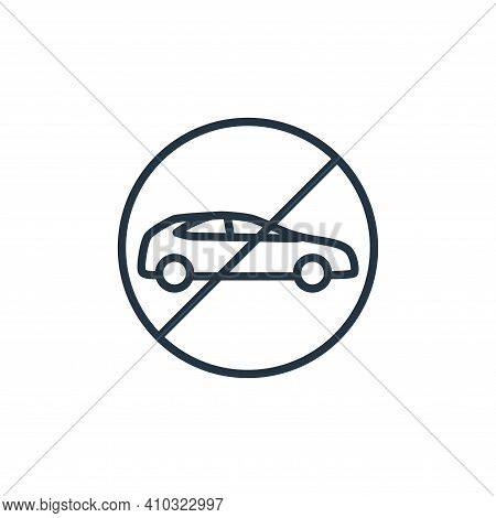 car icon isolated on white background from stop virus collection. car icon thin line outline linear