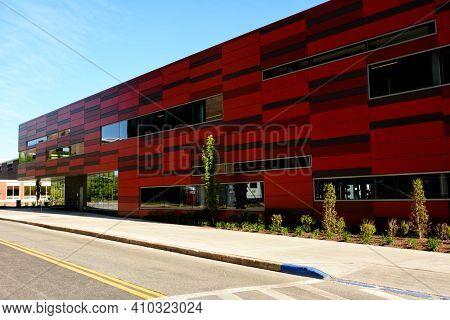 STONY BROOK, NEW YORK - 24 MAY 2015: The Walter J. Hawrys Campus Recreation Center at Stony Brook University.