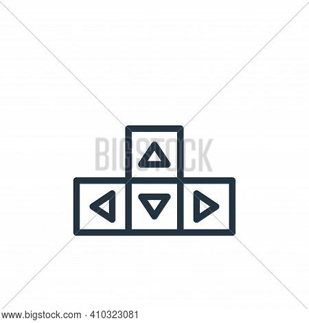 button icon isolated on white background from user interface collection. button icon thin line outli