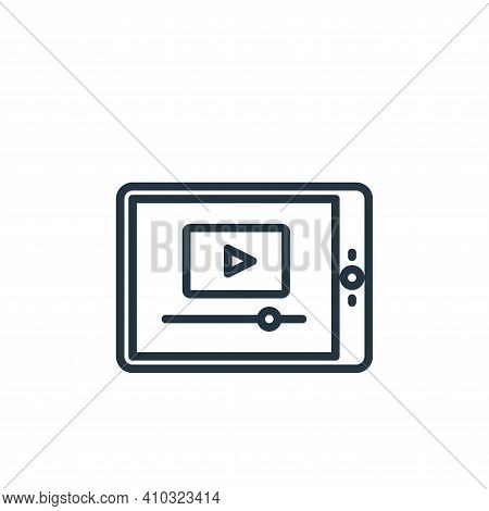 video player icon isolated on white background from elearning collection. video player icon thin lin