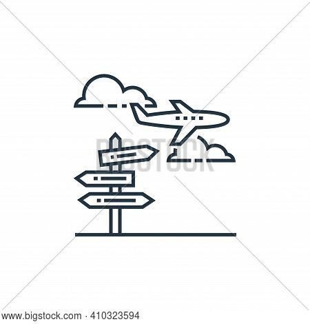travel icon isolated on white background from tourism collection. travel icon thin line outline line