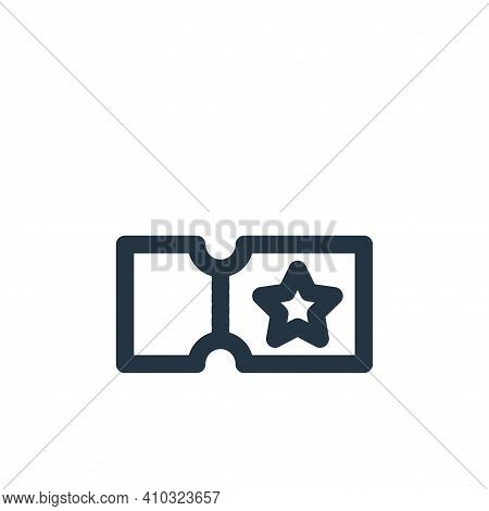ticket icon isolated on white background from marketing business collection. ticket icon thin line o