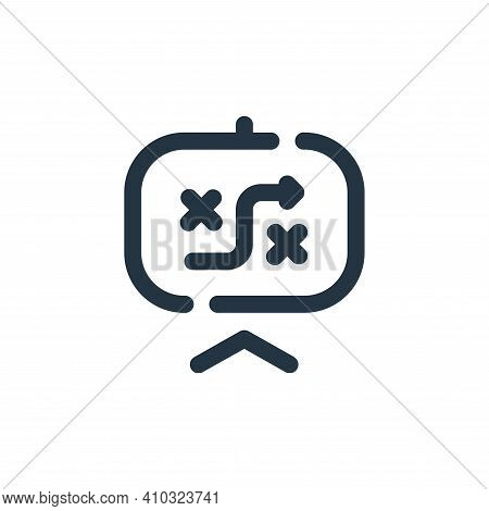 strategy icon isolated on white background from seo collection. strategy icon thin line outline line