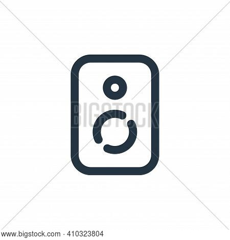 speaker icon isolated on white background from sound collection. speaker icon thin line outline line