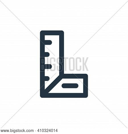ruler icon isolated on white background from labour day collection. ruler icon thin line outline lin
