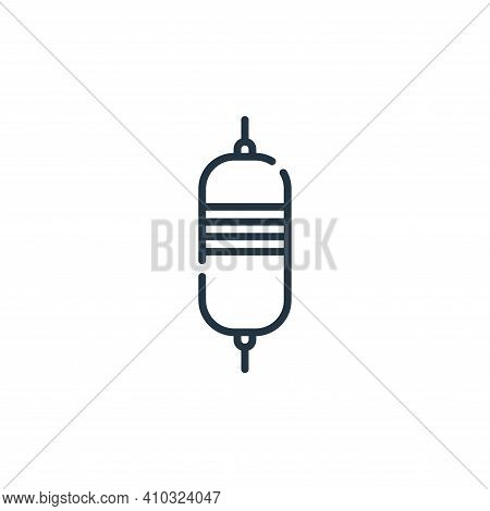 resistor icon isolated on white background from electrician tools and elements collection. resistor
