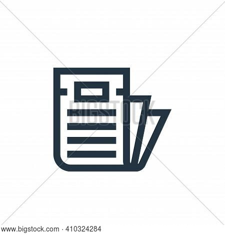 newspaper icon isolated on white background from news collection. newspaper icon thin line outline l