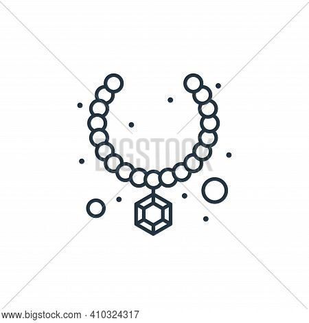 necklace icon isolated on white background from brazilian carnival collection. necklace icon thin li