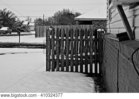 Snow Scenes Around The City Of Canyon In The Texas Panhandle, 2021 Severe Winter Storm.