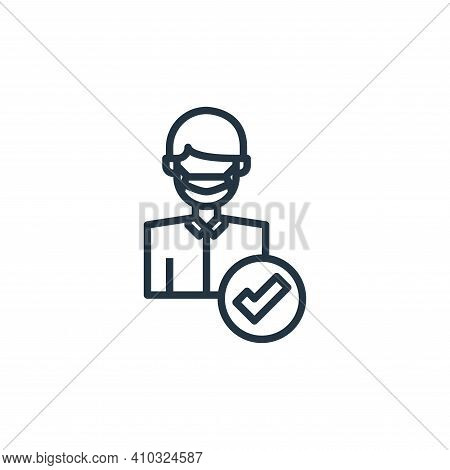 mask icon isolated on white background from coronavirus collection. mask icon thin line outline line