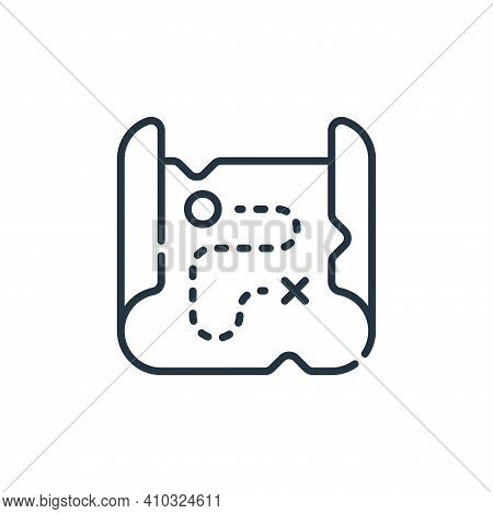 map icon isolated on white background from desert collection. map icon thin line outline linear map