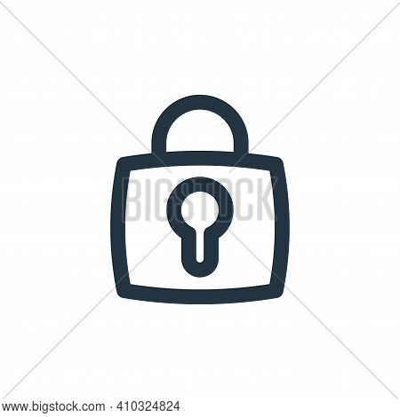 lock icon isolated on white background from basic ui collection. lock icon thin line outline linear