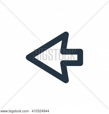 left icon isolated on white background from user interface collection. left icon thin line outline l