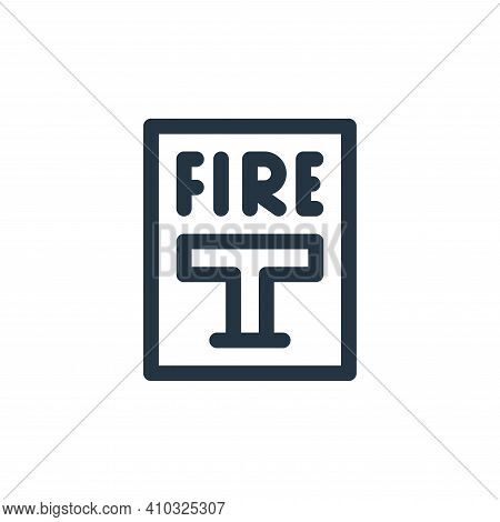 fire alarm icon isolated on white background from emergencies collection. fire alarm icon thin line