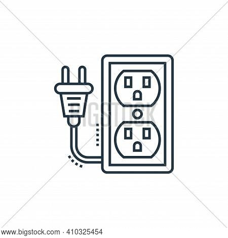 extension cord icon isolated on white background from technology devices collection. extension cord