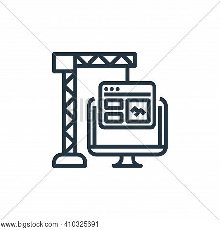development icon isolated on white background from user experience collection. development icon thin