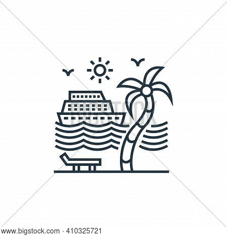 cruise ship icon isolated on white background from tourism collection. cruise ship icon thin line ou